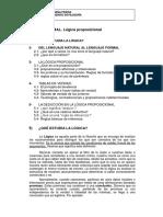 LOGICA Proposicional Curso 1011
