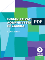 Indian Private Agro-Investments in Zambia