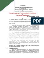 TreatyShopping&AntiAvoidance Webcast