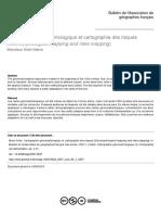 Cartographie Géomorphologique Et Cartographie Des Risques