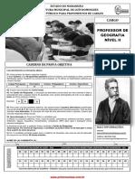 Inst Machadode Assis 183 Caderno de Prova Professor de Geografia