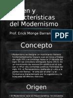 Origen y Características Del Modernismo