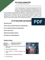 Test Floor Laboratory Webpage