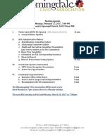 Bloomingdale Civic Association Meeting Agenda 2017 02 27