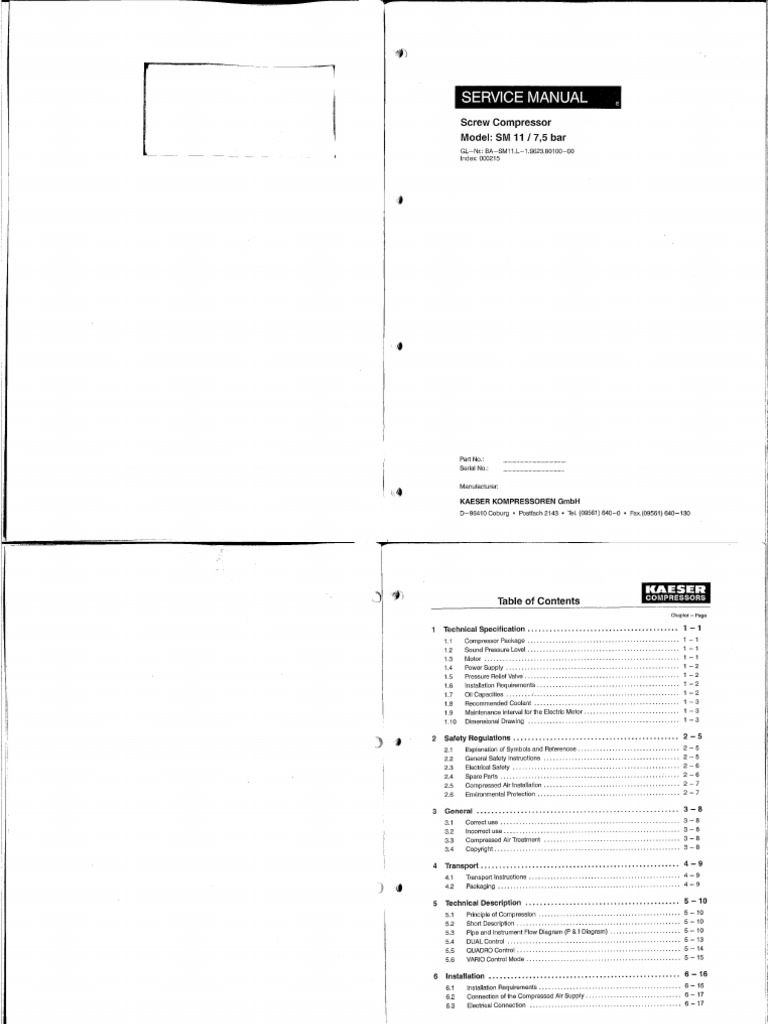 203053822-Kaeser-Compressor.pdf   Fuse (Electrical)   CoolantScribd
