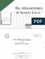 789 Neologismos de Jacques Lacan