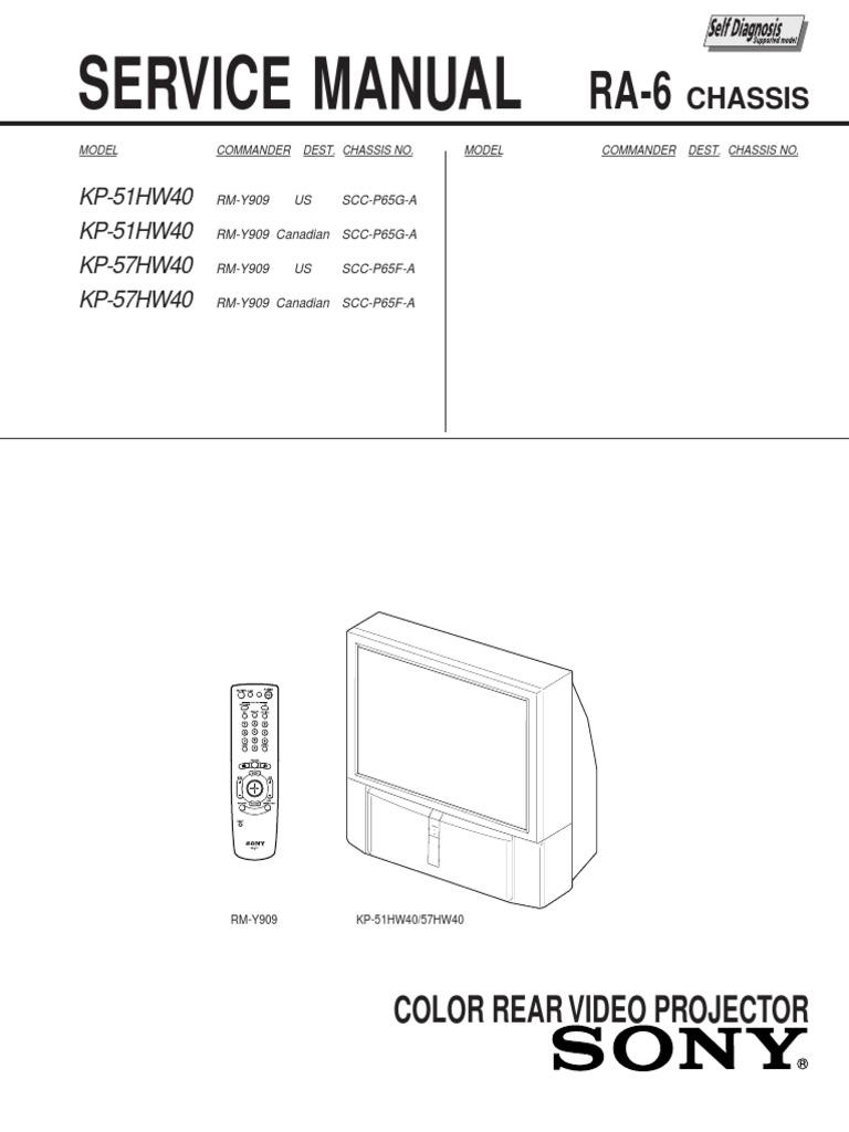 Kp 51hw40 57hw40 Chra 6 Cathode Ray Tube Lens Optics Tub 01cover 12wiring Diagram 13wiring 14wiring