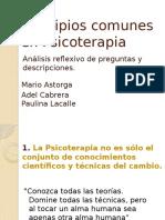 Principios Comunes en Psicoterapia - Desarrollo (Postulados 1-11)