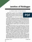 The Question of Heidegger