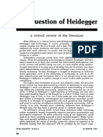 The Question of Heidegger