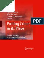 Weisburd, Bernasco, Bruinsma - Putting Crime in Its Place