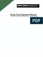Dumptruck Operator Manual