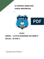 Tugas Remedi Ujian Mid Bahasa Indonesia
