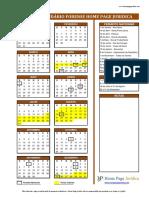 Calendário Forense HPJ 2017