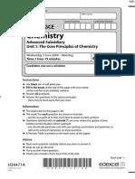 June 2009 MS - Unit 1 Edexcel Chemistry a-level