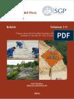 Boletin Sociedad Geológica del Perú.  Volumen 111 Año 2016. Serie Tematica