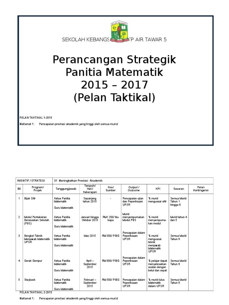 Pelan Taktikal Operasi 2015 2017