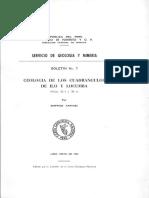 Geología - Cuadrangulo de Ilo y Locumba