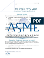 Reglamento Oficial HPVC Local y Hoja de Inscripción