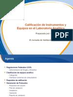 Calificacion de Equipos e Instrumentos en El Laboratorio Analitico