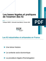 2016 02 03 Colloque IGPIA Antoine Ginestet INPI Indications Geographiques