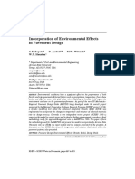Incorporation of Environmental Effects