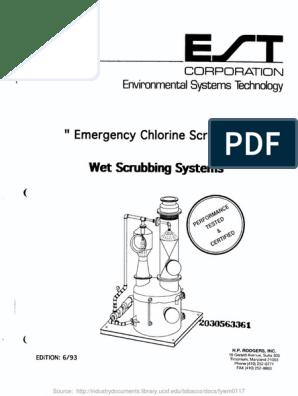 Emergency Chlorine Scrubbers Wet Scrubbing   Gases   Chemistry