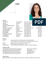 natasha schlaffer theatrical resume