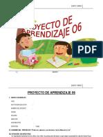 PROYECTO DE APRENDIZAJE  5° AGOSTO - 2015