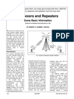 Duplexers and Repeaters Some Basic Information