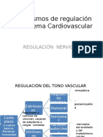 Mecanismos de Regulación Nerviosa Del Sistema Cardiovascular