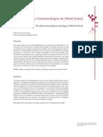 A Sociologia Fenomenológica de Alfred Schutz