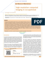 Spectrum of HRCT in Occupational Lung Disease