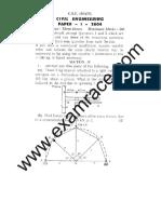IAS Mains Civil Engineering 2004