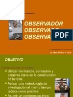 Clase INVESTIGACIÓN ObservadorOBSERVADO