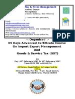 SG Institute of Tax & Exim Management