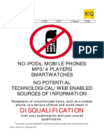 No Mobile Phones Poster 2016