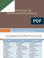 Elementos. Protocolo de Investigación