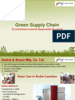 Best Practices in Green Supply Chain by Godrej Appliances Division, Shirwal Plant