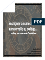 ACTIVITIES Enseigner La Numeration de La Maternelle Au College Expense