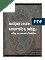 ACTIVITIES Enseigner La Numeration de La Maternelle Au College Expense