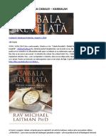 Comentarii Asupra Cabalei – Kabbalah