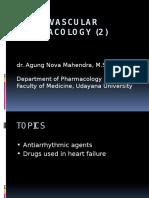 Cardiovascular Pharmacology 2 _fPN_dr. Agung_2016