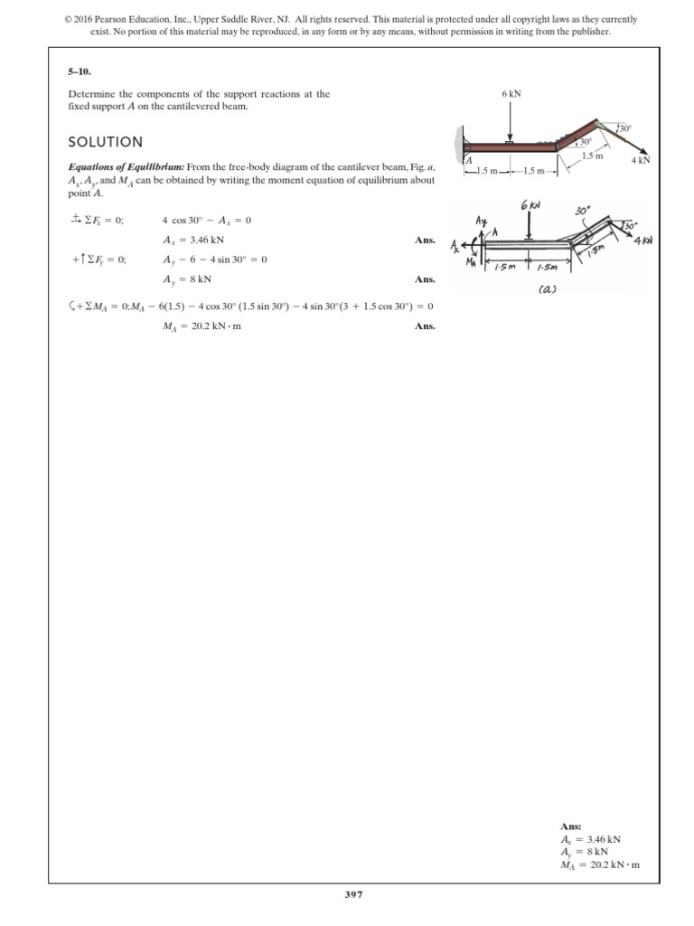 Chapter 5pdf Chemical Equilibrium Trigonometric Functions Free Body Diagram Form A And Solve