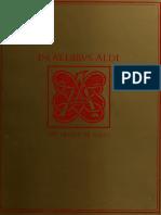 in aedibus aldi. the legacy of aldus manutius and his press