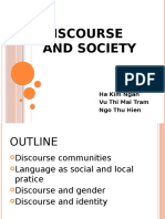 Discourse and Society