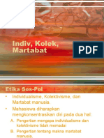 Indiv, Kolek, Martabat