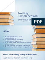 reading comprehension workshop