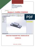 Chaîne d'Energie Fonction Transmettre Solidworks Doc-prof Moukhtari
