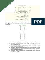 Demand Forecasting Practice Problem